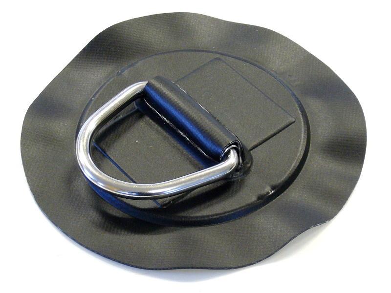 Ring Edelstahl für Schlauchboote in Schwarz D